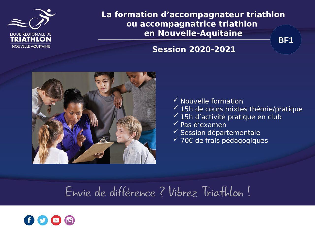 Les sessions de formation BF1 en Nouvelle Aquitaine – 2021